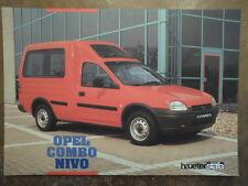 OPEL COMBO NIVO PANORAMA orig 1990s German Mkt Brochure Prospektblatt by Haueter