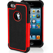 Shockproof Hard Silicone Case Cover Hybrid Heavy Duty for Apple iPhone 7 4s 5 6 iPhone 4 4s Red