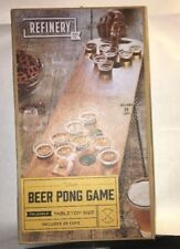 Refinery Tabletop Size Wooden Beer Pong Game  Adult Party Drinking Game ,New.