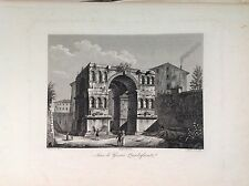 ARC DI GIANO FRONTED ARCH ROME etching original 1832 Domenico AMICI