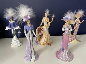 4 Beautiful Hamilton Collection Figures, plus 1 Bradford Exchange