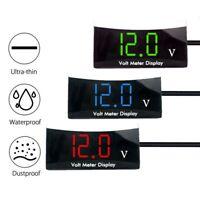 12V Digital Red/ Blue/ White LED Display Voltmeter Panel Voltage Meter For Car