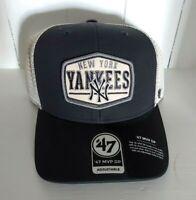 New York Yankees Hat '47 MVP DP Vintage Navy Mesh Trucker Snapback Cap