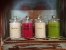 Personalised & Handmade 100 Soy Wax Strongly Scented Candles 30 Hour Burn Each