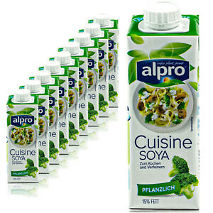 10 x Alpro Soja Cuisine Kochcreme 250 ml - 100 % pflanzliche Sojacreme