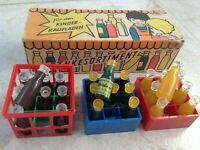 Vintage East Germany beverage toy Getränkesortiment Kaufladen VEB BMK Ost