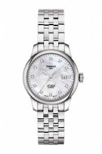 New Tissot Le Locle Automatic Diamond Dial Steel Women's Watch T0062071111600