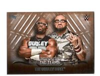 WWE The Dudley Boyz 2016 Topps Undisputed Tag Teams Parallel Card SN 51 of 99