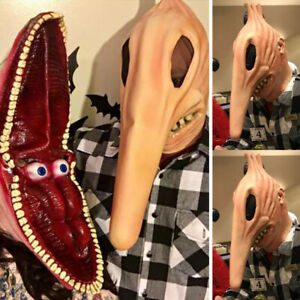 Adults Beetlejuice Barbara and Adam Monster Mask Halloween Cosplay Costume Props