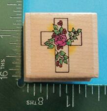 Cross with Flowers Rubber Stamp by Embossing Arts Religious Easter