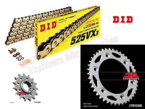 Honda CBR600 F4i DID Gold X-Ring 520 Chain and JT Sprockets Kit Set 2002 to 2007