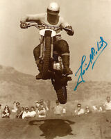 JOEL ROBERT SIGNED AUTOGRAPHED 8x10 PHOTO MOTOCROSS LEGEND VERY RARE BECKETT BAS