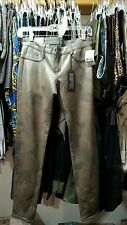 BLEULAB Reversible Jeggins(Army Green Leather/Gray Suede)Womens Jean Size 26 NWT