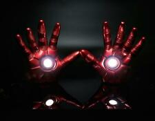 Hot The Avengers Iron Man Gauntlet Glove LED Light L+R Hand With Box Xmas Gift
