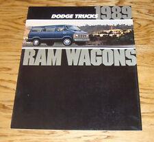 Original 1989 Dodge Ram Wagon Deluxe Sales Brochure 89