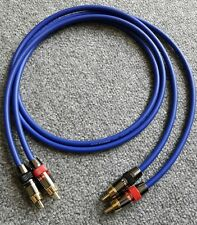 Van Damme-Monster argento placcato OFC RCA Phono Cavo Di Interconnessione Ultra Blu 2m
