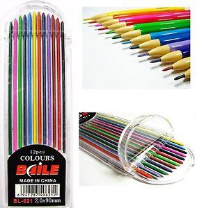 12 Colors 2B Lead Refills Multi Colored Pencil Assorted Set Mechanical 2.0mm 2mm