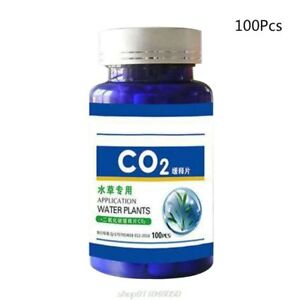 100Pcs Aquarium CO2 Tablet Carbon Dioxide Diffuser for Water Plant Grass Tank