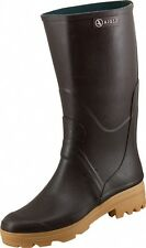 AIGLE Chambord Pro L2 Brown Rubber Wellington Boots (Sizes Available) *RRP £75*