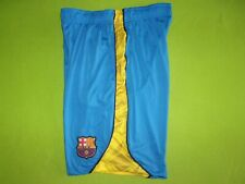 FCB Barcelona Soccer Shorts Blue Yellow Mens Size XL