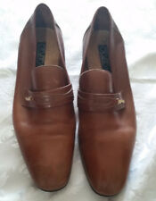 Vintage Leather   Shoes Size 10 Made in Italy 70'S