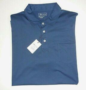 Peter Millar Pima Cotton Men's 2XL Blue Pocket Comfort Soft Golf Polo Shirt, New