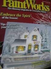 Paint Works Magazine December 2003 Winter Scene Tea Box/Sled Ornaments/Baskets/S