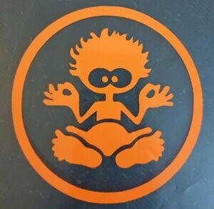 "1x Salt Rock VW Vinyl Sticker Cars Surf Camper Wavy Dude Vanlife Beach 4"" Orange"