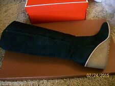 COACH KEELY SHEARLING LINED WEDGE BOOT 8.5M, Q6323/A8200 BLACK- NWB, SHIPS FREE