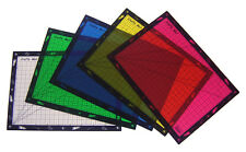PACK 5 LARGE CRAFT CUTTING & MODELLING MATS WITH 1cm GRIDS MIXED COLOURS 7806-5