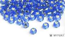 360 BEADS MIYUKI SIZE 6 LAKE BLUE GOLD LUSTER BEADS ~ 30 GRAMS