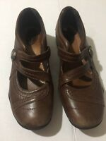 Clarks Artisan Kessa Agnes Brown Leather Mary Jane Shoes Size 7.5