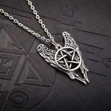 Castiel Alas de Ángel & Pentagrama Colgante Collar De Protección-Sobrenatural -
