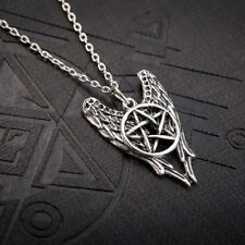 Castiel Angel Wings & Pentagram Pendant - Supernatural - Protection Necklace