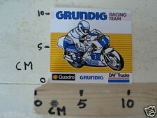 STICKER,DECAL GRUNDIG RACING TEAM MOTO GP,DAF TRUCKS,SHELL QUADRO