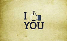 A4 Poster – I Like You Thumbs Up (Picture Print Minimal Text Word Comic Art)