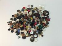 Vintage Buttons Lot Of 1 Lb Of Assorted Buttons Buckles Many Shapes & Sizes D5