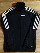 Adidas Climalite Mens Tracksuit Top Jacket Black White Hype Striped Training