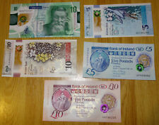 IRISH POLYMER NOTES x 5 BANK OF IRELAND, ULSTER BANK, DANSKE BANK NEW ISSUES