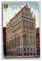 Vintage 1910 Postcard - The University Club of Chicago Harvard Yale & Princeton