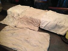 Lot of 4 Vintage Cloth Seed Corn Sacks Unmarked or Faded Excellent Condition