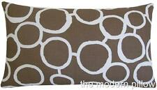 Light Brown/White Freehand decorative throw pillow cover/cushion cover 12x20""