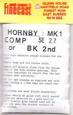 SE Finecast SE27 Flush Glazing Kit Hornby MK1 Comp Brake Coach 00 Gauge 1st Clas