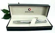 Sheaffer 300 Ballpoint Pen all  Chrome Body Medium Blue Refill Gift Boxed