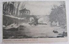Cartolina d'epoca Alpignano -ponte sulla Dora e officine elettriche   postcard