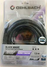 Oehlbach! Black Magic 7,5m HDMI/HDMI High Speed HDMI Kabel mit Ethernet##