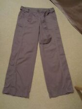 M&S MARKS & SPENCER Mink Cotton Cargo Trousers Size 10 Medium