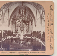 Epworth League Metropolitan Church Toronto  ON  Canada Keystone Stereoview 1900