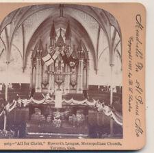 Epworth League Metropolitan Church Toronto  ON  Canada Keystone Stereoview 1900