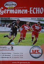 Programm 2014/15 FC Germania Egestorf/Langreder - Teutonia Uelzen